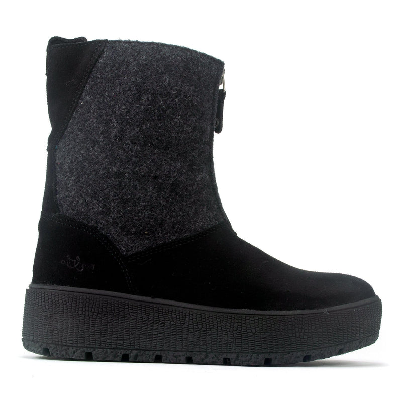 Bos. & Co. Ignite Women's Waterproof Suede Winter Boot Black | Simons Shoes
