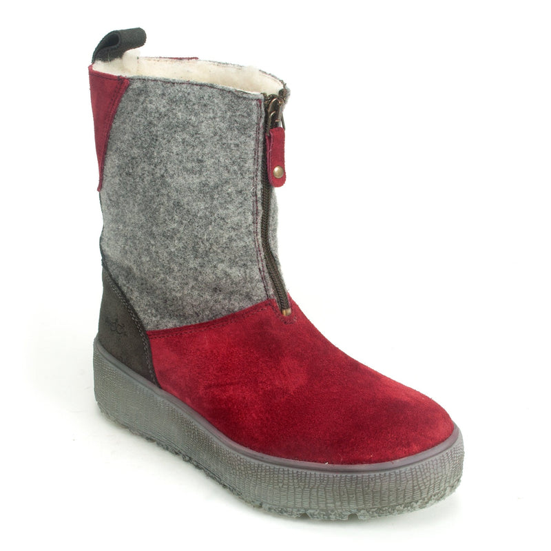 Bos. & Co. Ignite Women's Waterproof Suede Winter Boot Sangria | Simons Shoes
