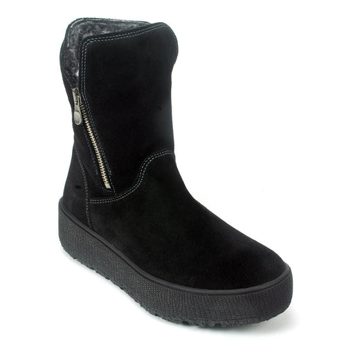 Bos & Co Irvine Suede Platform Waterproof Lined Bootie | Simons Shoes