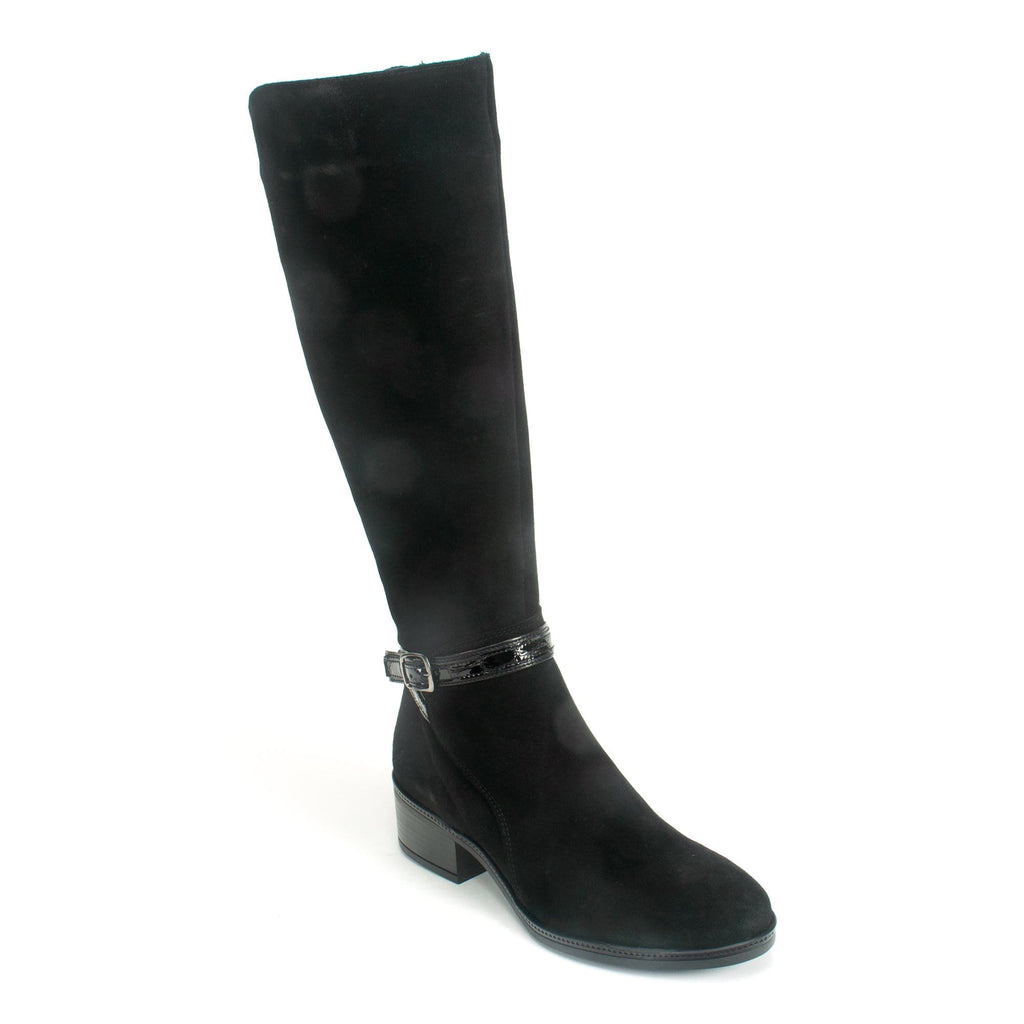 Bos. & Co. Jade Women's Chic Waterproof Suede Tall Boot Black | Simons Shoes