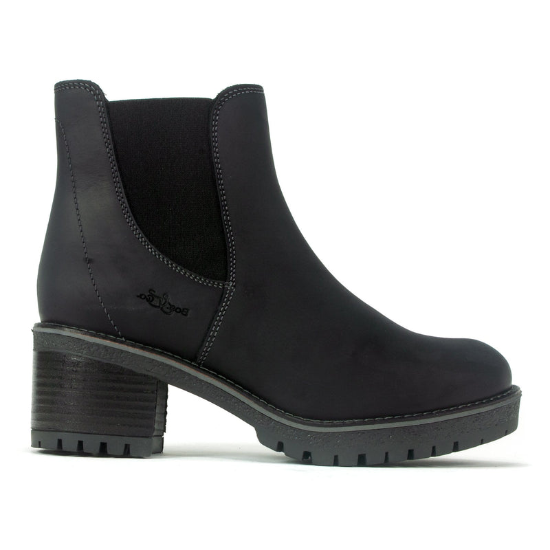 Bos & Co Mass Boot Women's Waterproof Leather Bootie Black | Simons Shoes