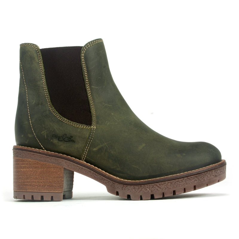 Bos & Co Mass Boot Women's Waterproof Leather Bootie Olive | Simons Shoes
