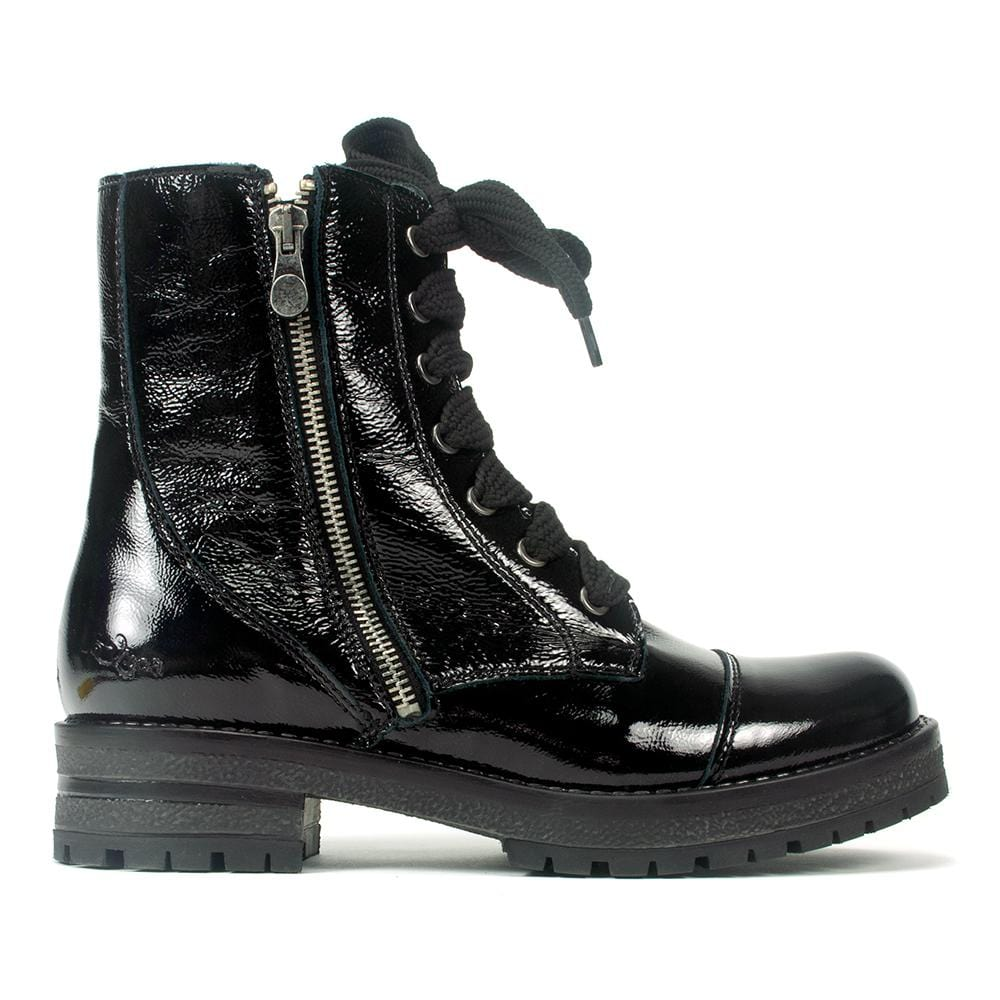 Bos & Co Paulie Boot Women's Waterproof Leather Lace Up Black | Simons Shoes