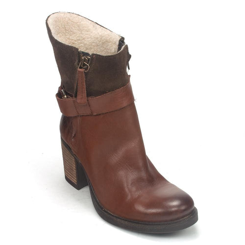 Bos & Co. Women's Bestie Leather Waterproof Zipper Heel Boot