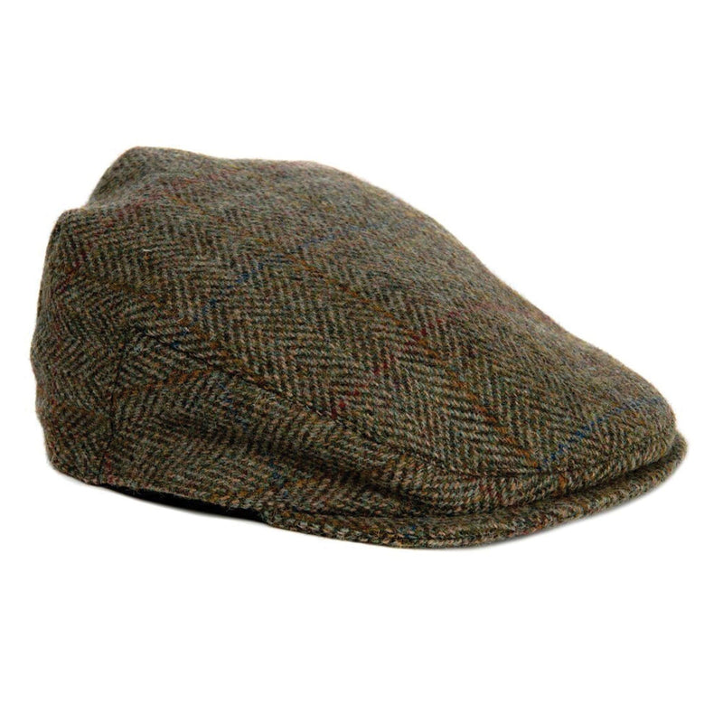Bronte Moon Unisex Harris Tweed Herringbone Flat Cap | Simons Shoes
