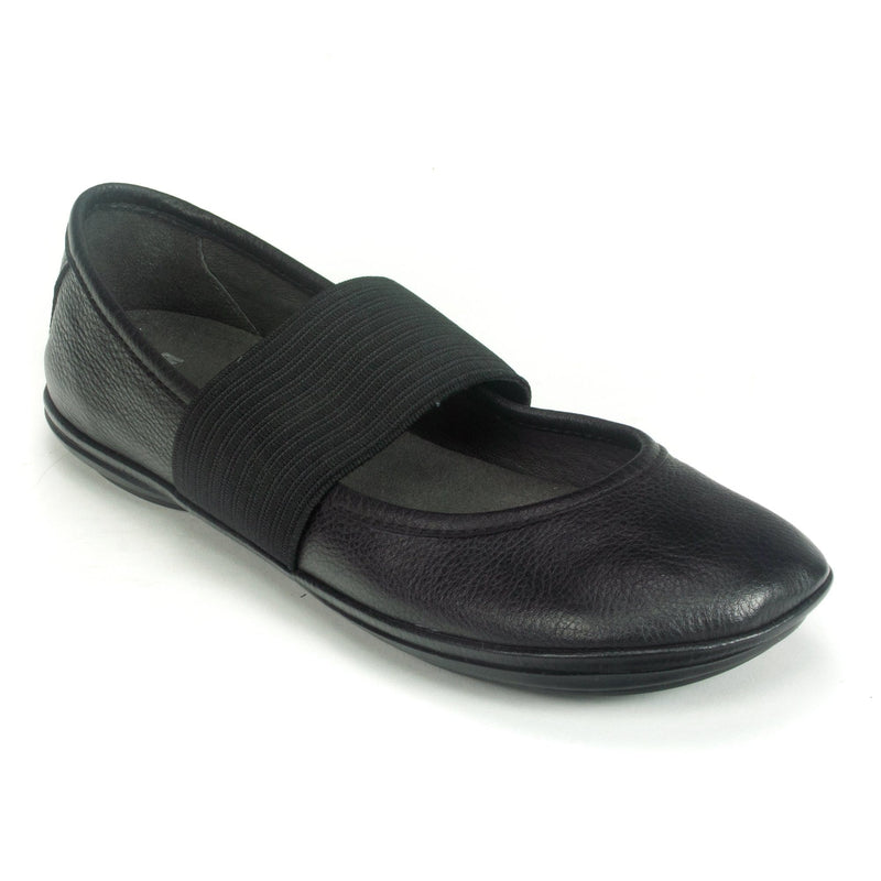 Camper Right (21595) Leather Ballerina Mary Jane Flat Black | Simons Shoes