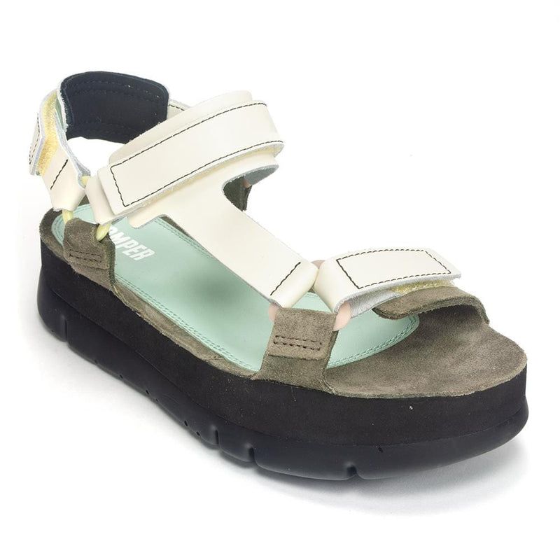 Camper Women's Oruga Multi Strap (K200809) Adjustable Platform Sandal