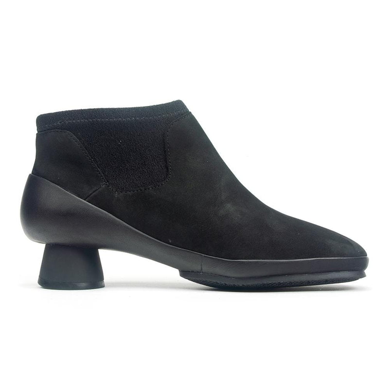 Camper Alright K400218 Women's Leather Contrast Bootie Black | Simons Shoes