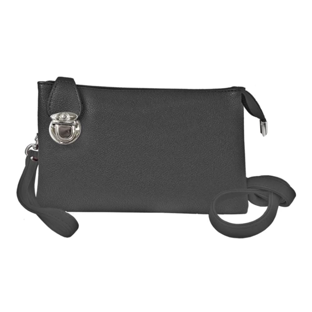 Caracol Convertible Clutch (7011) Adjustable Straps Black | Simons Shoes