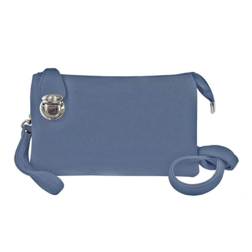 Caracol Convertible Clutch (7011) Adjustable Straps Blue | Simons Shoes