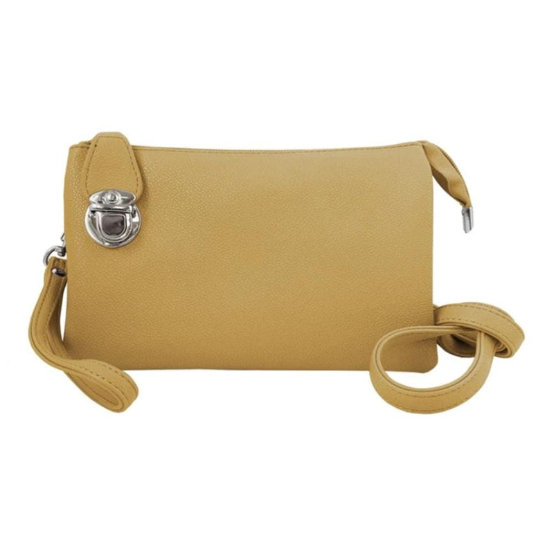 Caracol Convertible Clutch (7011) Adjustable Straps Yellow | Simons Shoes