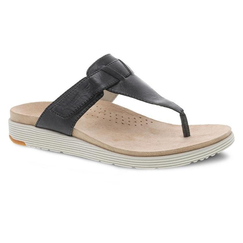 Dansko Womens Cece Cushioned Leather Thong Sandal | Simons Shoes