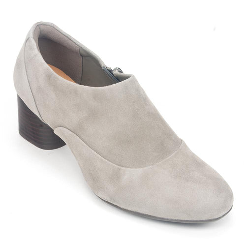 Clarks Un Cosmo Zip Up Women's Leather Contoured Bootie Heel Shoe