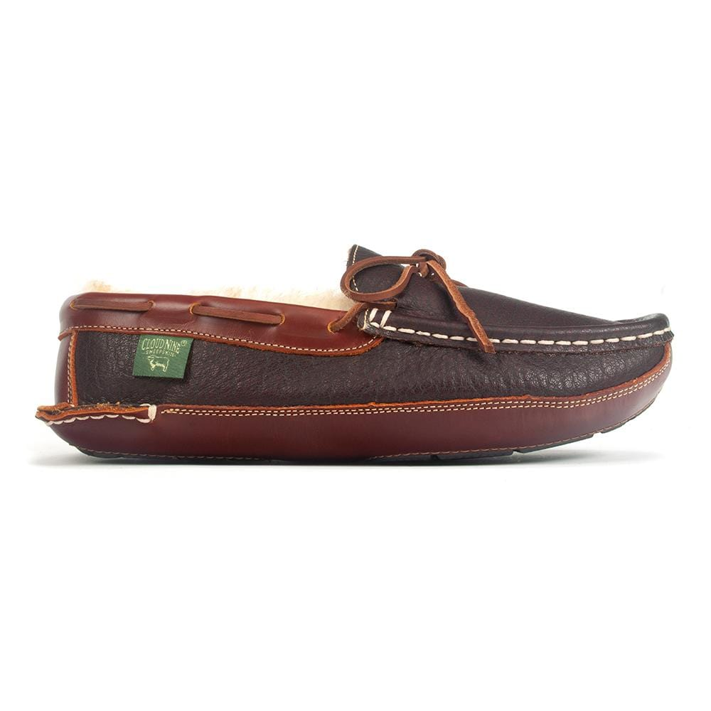 RJ Fuzzies Slipper | Leather Driving Moccasin (CNS207) | Simons Shoes