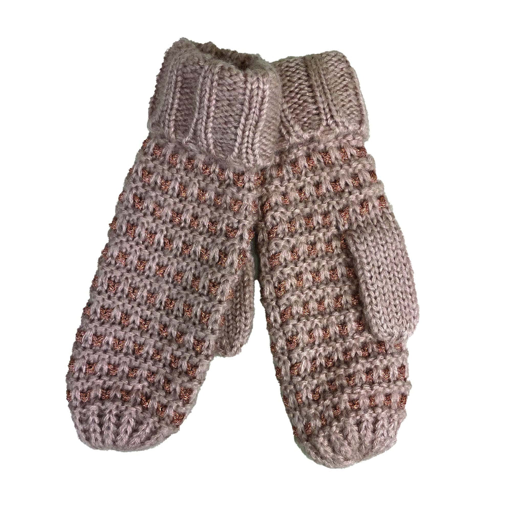 Cymbo Accessories Rose Gold Mittens | Simons Shoes