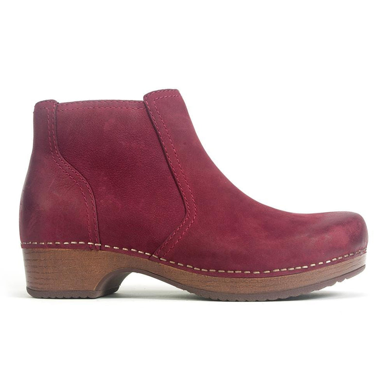 Dansko Barbara Women's Leather Clog Sole Ankle Bootie Wine | Simons Shoes