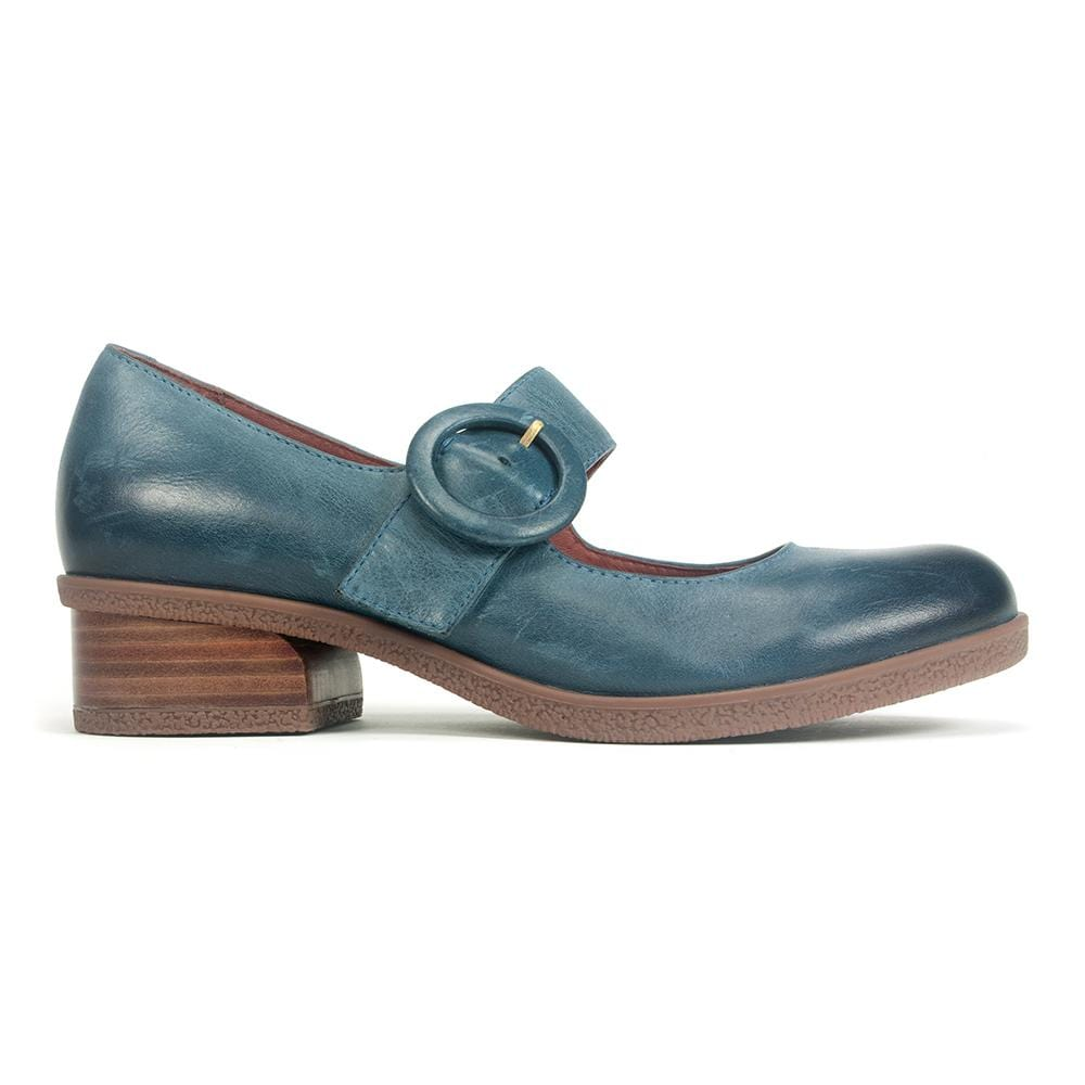 Dansko Womens Brandy Leather Low Heel Comfort Mary Jane Teal | Simons Shoes