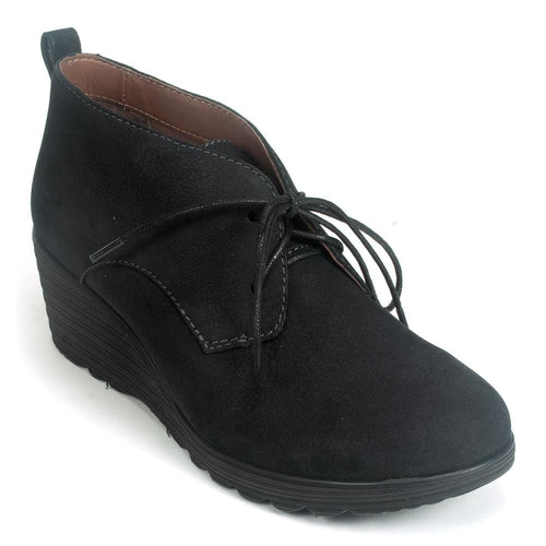 Dansko Cadee Wedge Bootie | Fall Nubuck Leather Wedge Heel Bootie