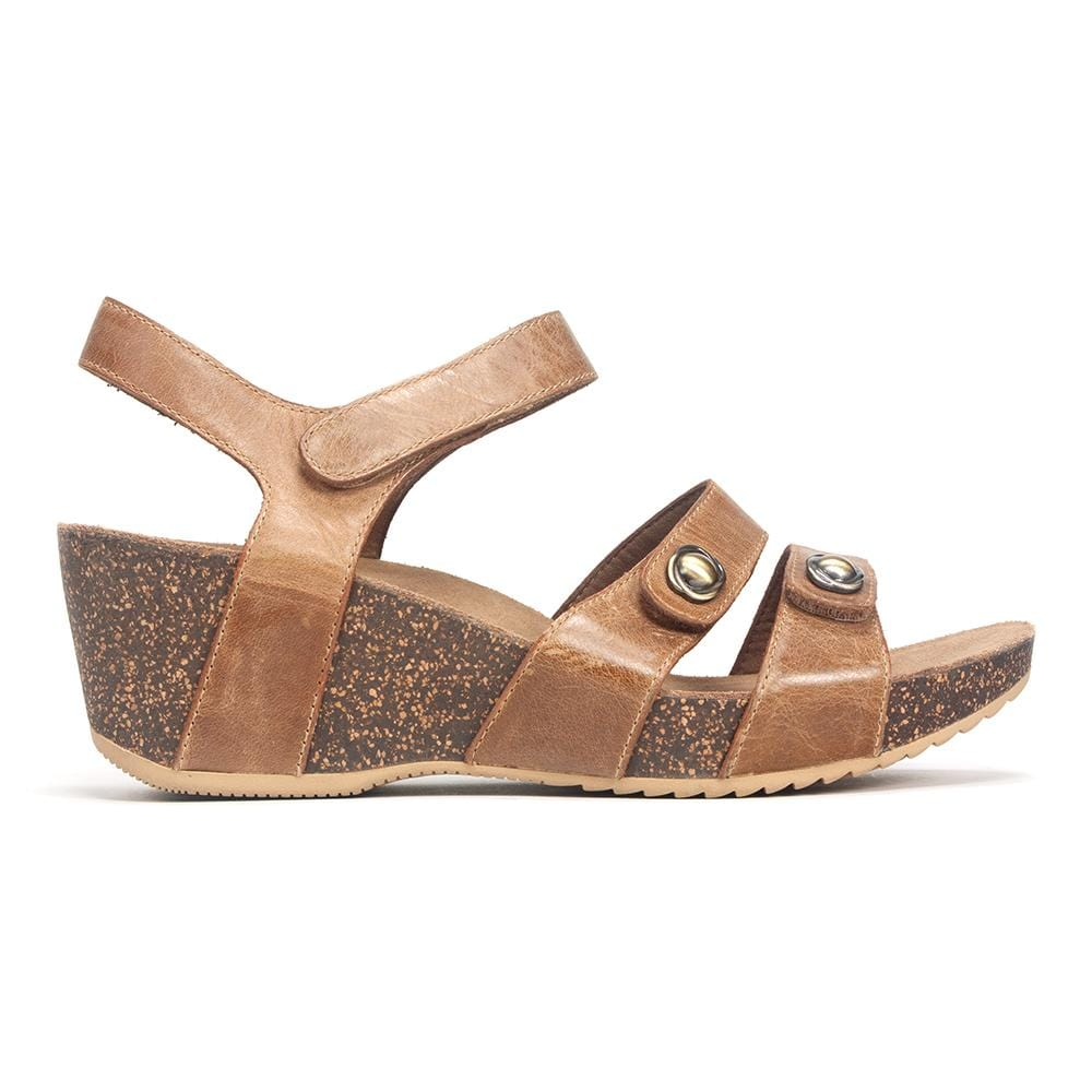 Dansko Savannah Women's Leather Cork Wedge Adjustable Sandal Shoe