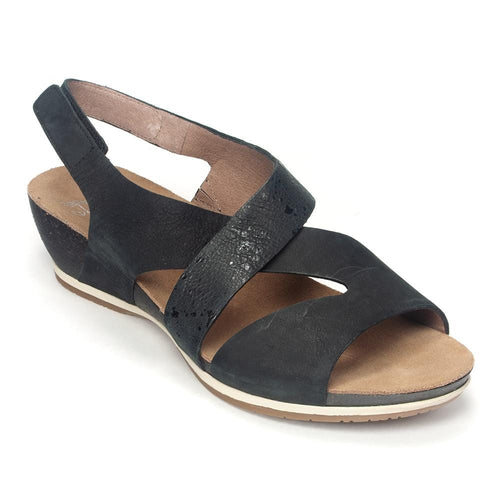 Dansko Vicky Women's Leather Slingback Crisscross Wedge Sandal Shoe