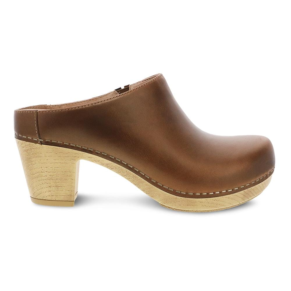 Dansko Abbie Women's Soft Leather Heeled Mule Bronze | Simons Shoes