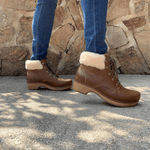 Dansko Dansko Bailee Shearling Lined Laced Ankle Bootie | Simons Shoes