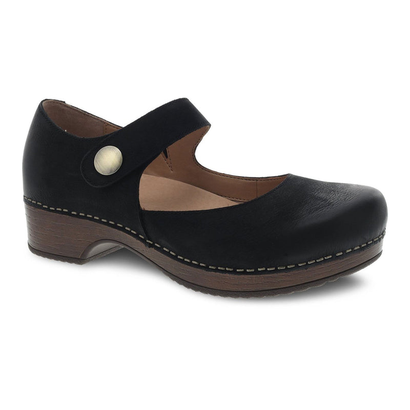 Dansko Womens Beatrice Mary Jane Burnished Clog | Simons Shoes