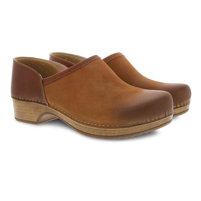 Dansko Brenna Casual Women's Suede Slip On Shoe Tan | Simons Shoes