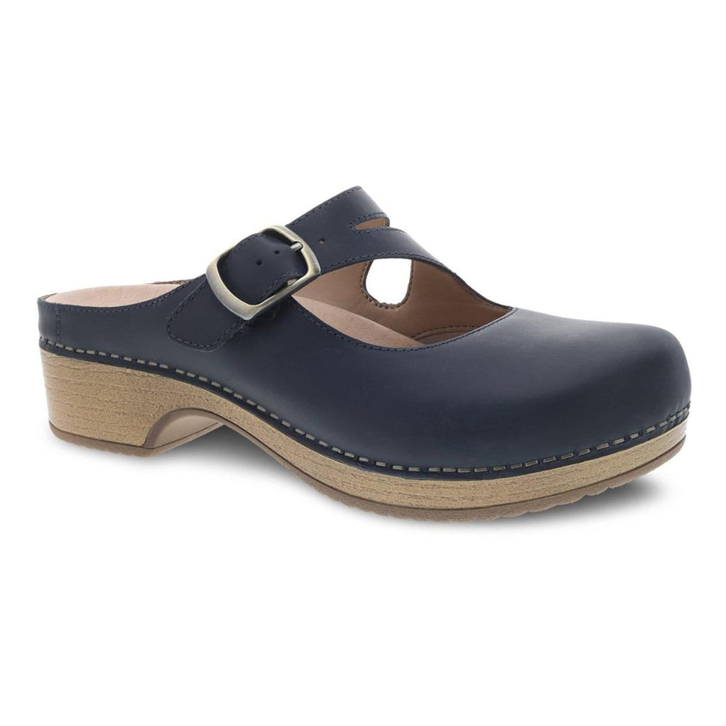 Dansko Britney Womens Mary Jane Leather Mule Clog | Simons Shoes