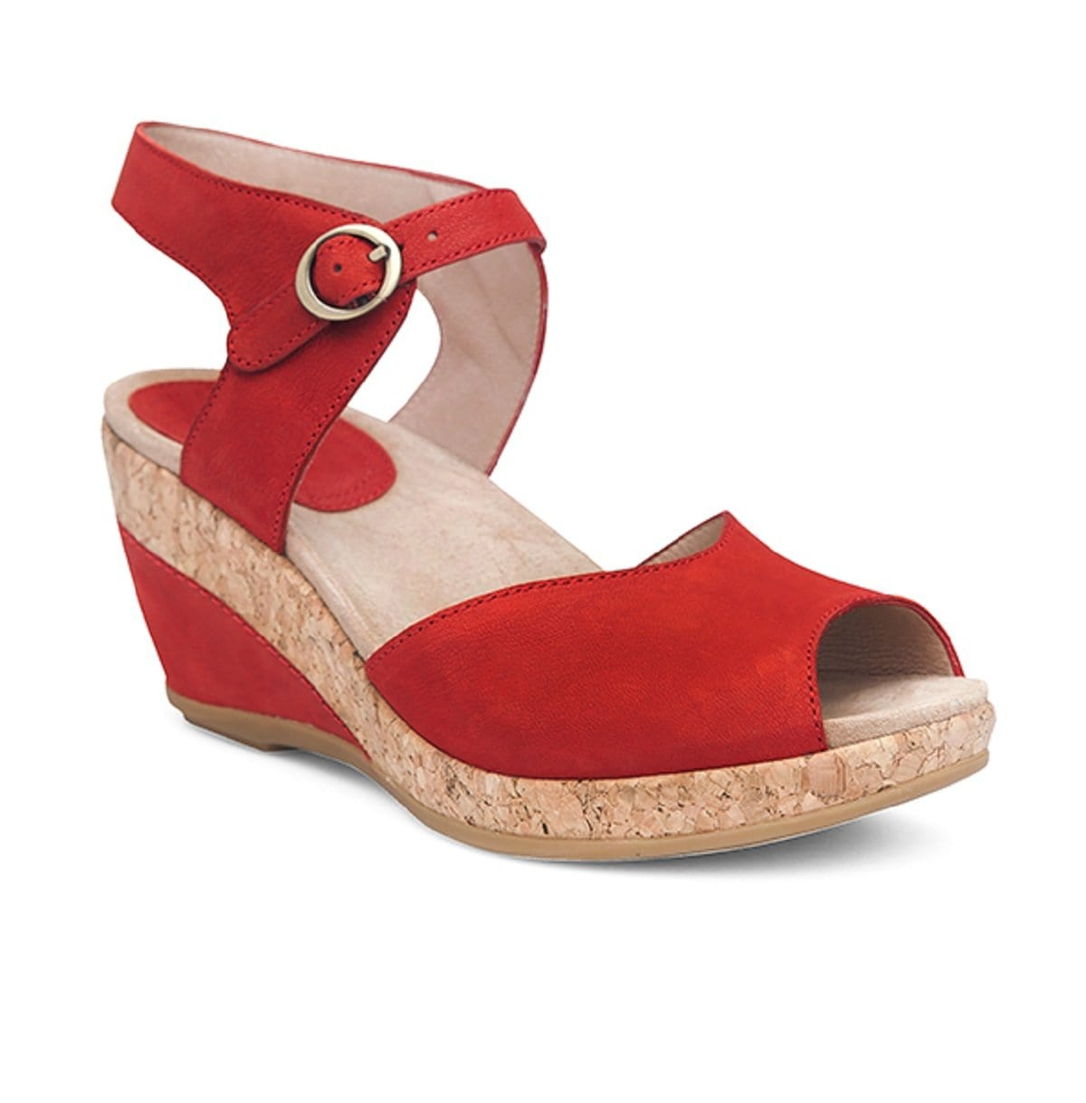 Dansko Charlotte Women's Leather Cork Classic Mary Jane Wedge Shoe