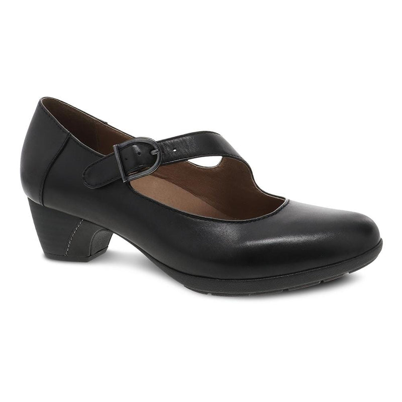 Dansko Dianne Women's Classic Heeled Leather Mary Jane Black | Simons Shoes