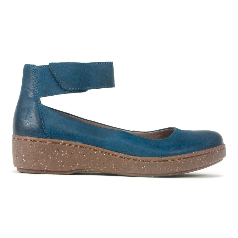 Dansko Emmie Casual Women's Suede Wedge Slip-On Teal | Simons Shoes