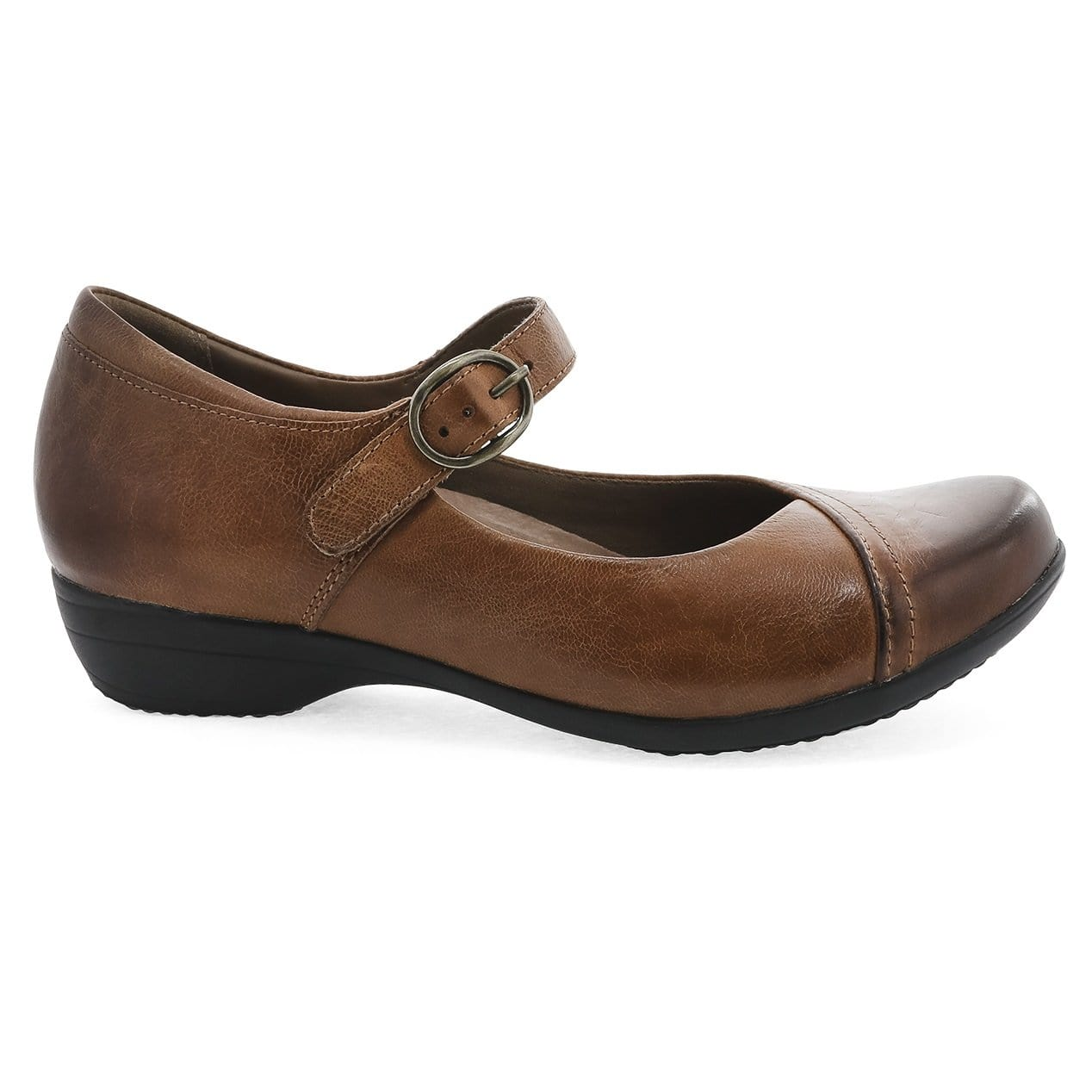 Dansko Fawna Women's Vintage Leather Buckle Low Heeled Mary Jane Shoe