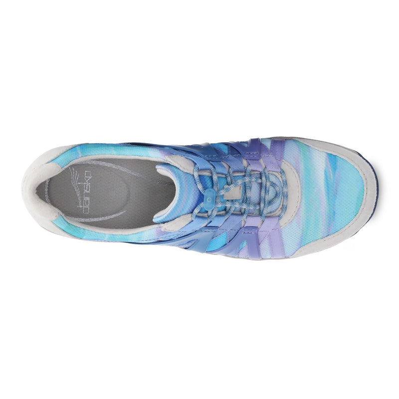 Dansko Henriette Women's Leather Mesh Slip On Sneaker Blue Multi | Simons Shoes