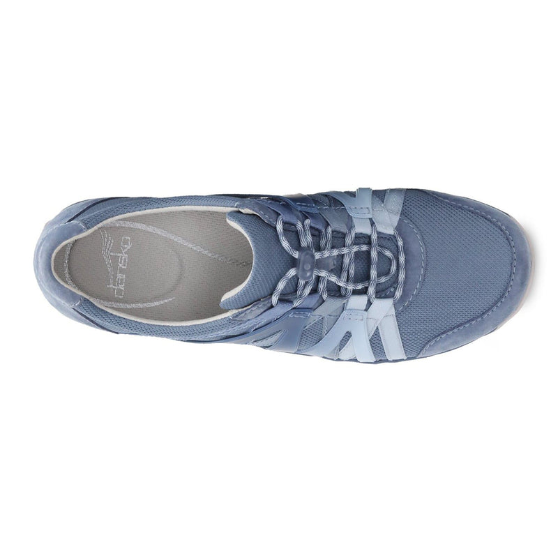 Dansko Henriette Women's Leather Mesh Slip On Sneaker Denim Suede | Simons Shoes