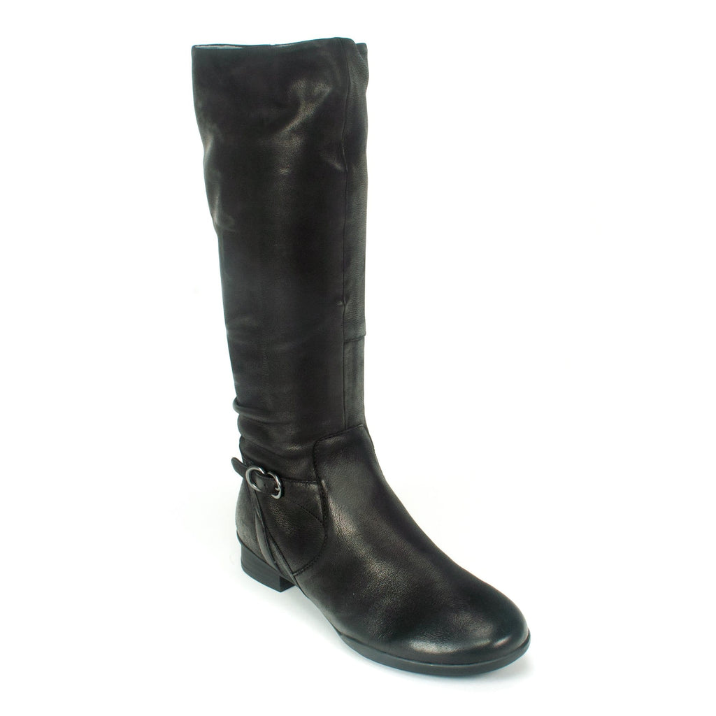 Dansko Kay Women's Nubuck Classic Black Tall Boot | Simons Shoes