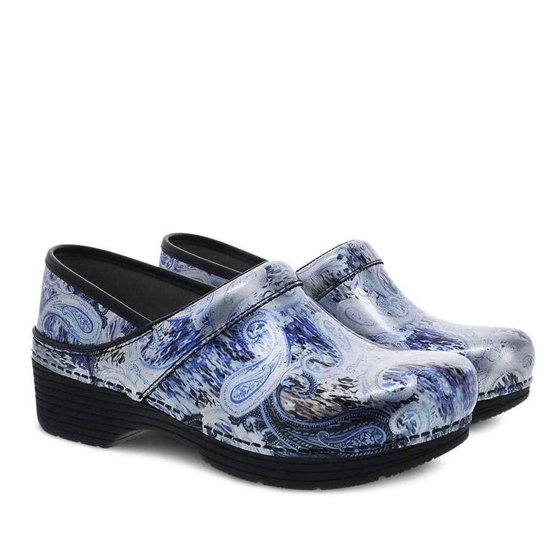 Dansko LT Pro Women's Lightweight Leather Clog Silverblue Paisley | Simons Shoes
