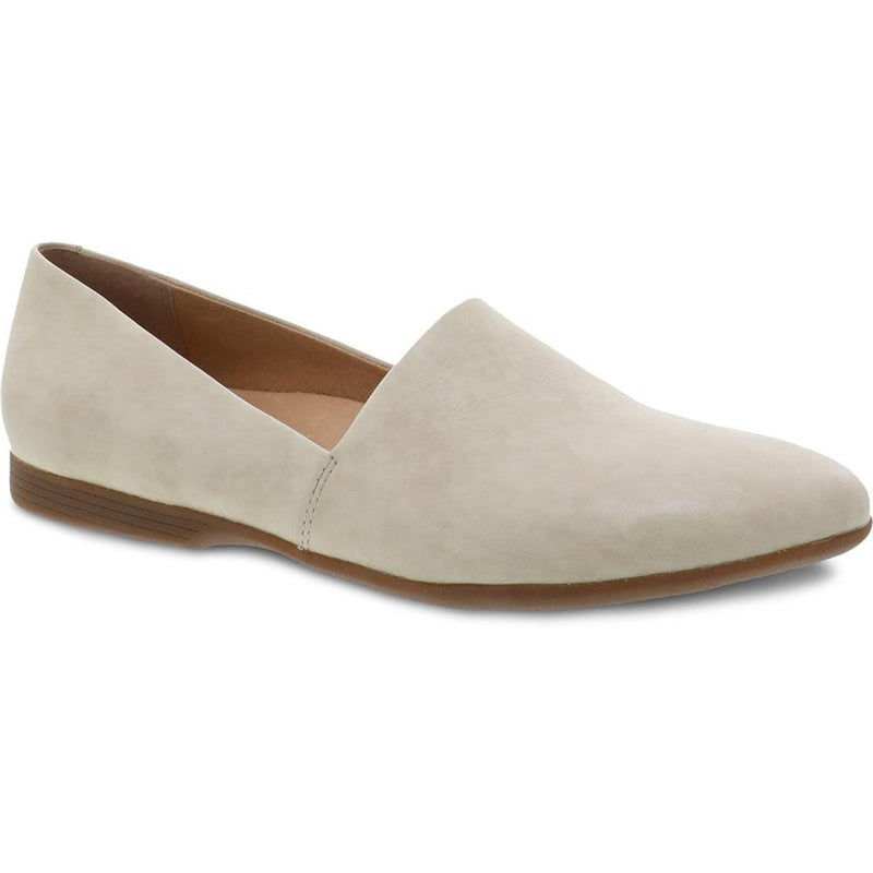 Dansko Larisa Womens Leather Slip On Pointed Toe Flat Linen | Simons Shoes