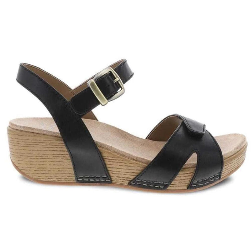 Dansko Laurie Wedge Memory Foam Leather Summer Sandal | Shop Simons Shoes