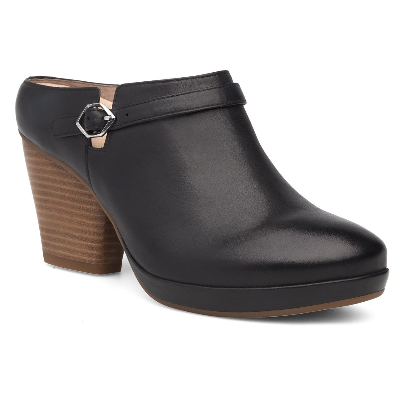 Dansko Malissa | Women's Leather Slip On Platform Heel Bootie | Simons