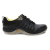 Dansko Phylicia Black Women's Waterproof Leather Sneaker Removable Footbed