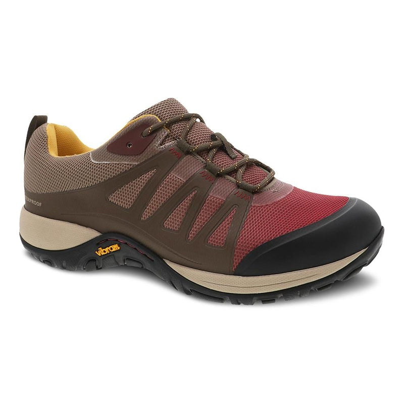 Dansko Phylicia Walnut Women's Waterproof Leather Sneaker Removable Footbed