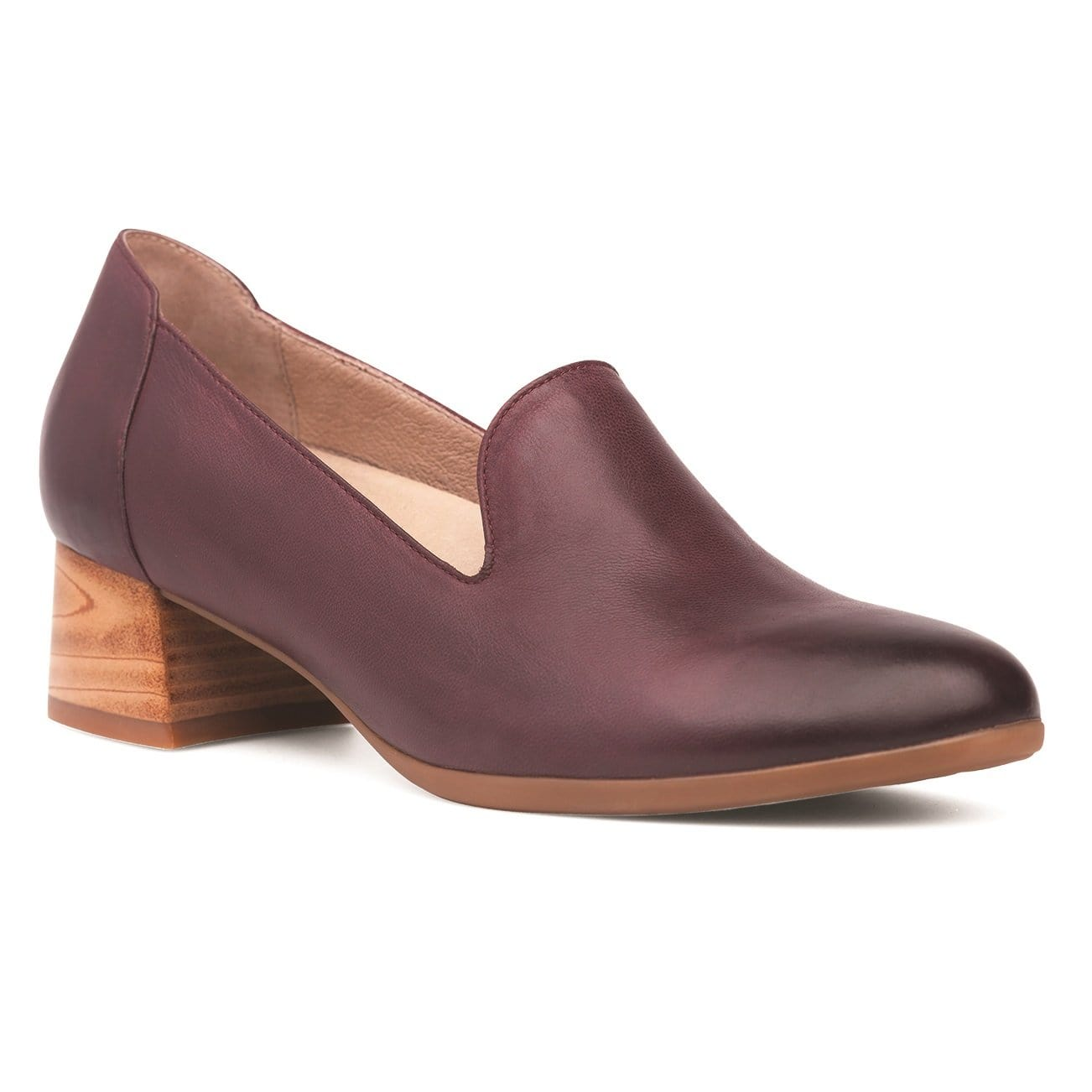 Dansko Preston | Women's Leather High Vamp Heeled Loafer Shoe | Simons