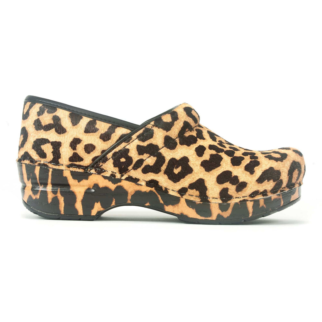 Dansko Professional Haircalf Leopard Print Women's Clog | Simons Shoes