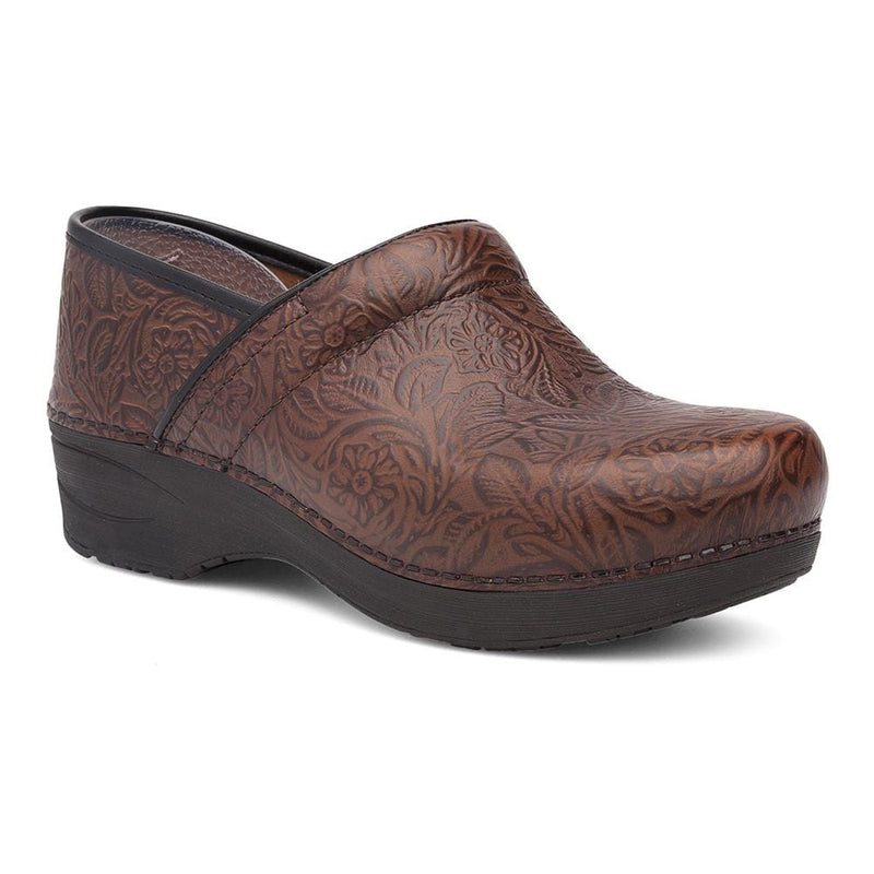 Dansko Women's Professional XP 2.0 Floral Tooled Clog Brown| Simons Shoes