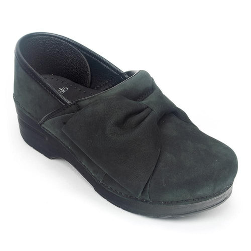 Dansko Pro Bow | Women's Nubuck Leather Bow Front Dressy Clog | Simons