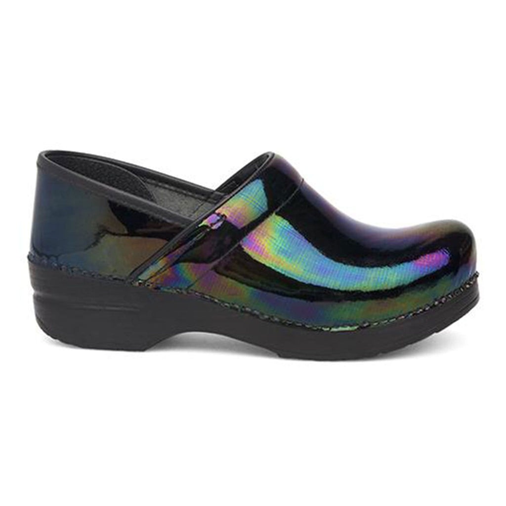 Dansko Womens Professional Petrol Patent Leather Clog | Simons Shoes