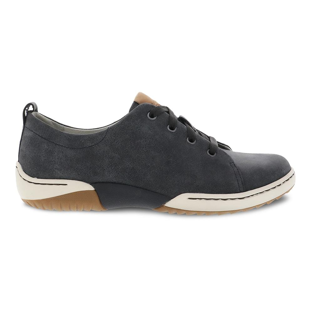Dansko Renae Women's Soft Leather Lace Up Sneaker Black | Simons Shoes