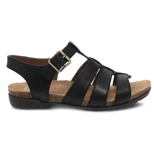 Dansko Roni Casual Cage Front Cork Memory Foam Leather Sandal | Simons
