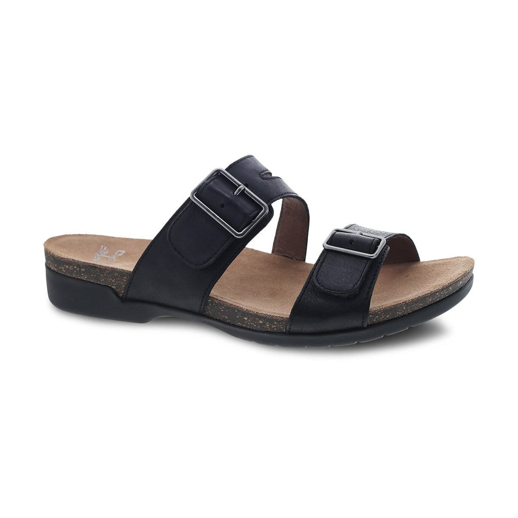 Dansko Rosie Women's Leather Two Strap Buckle Casual Slide Sandal Shoe